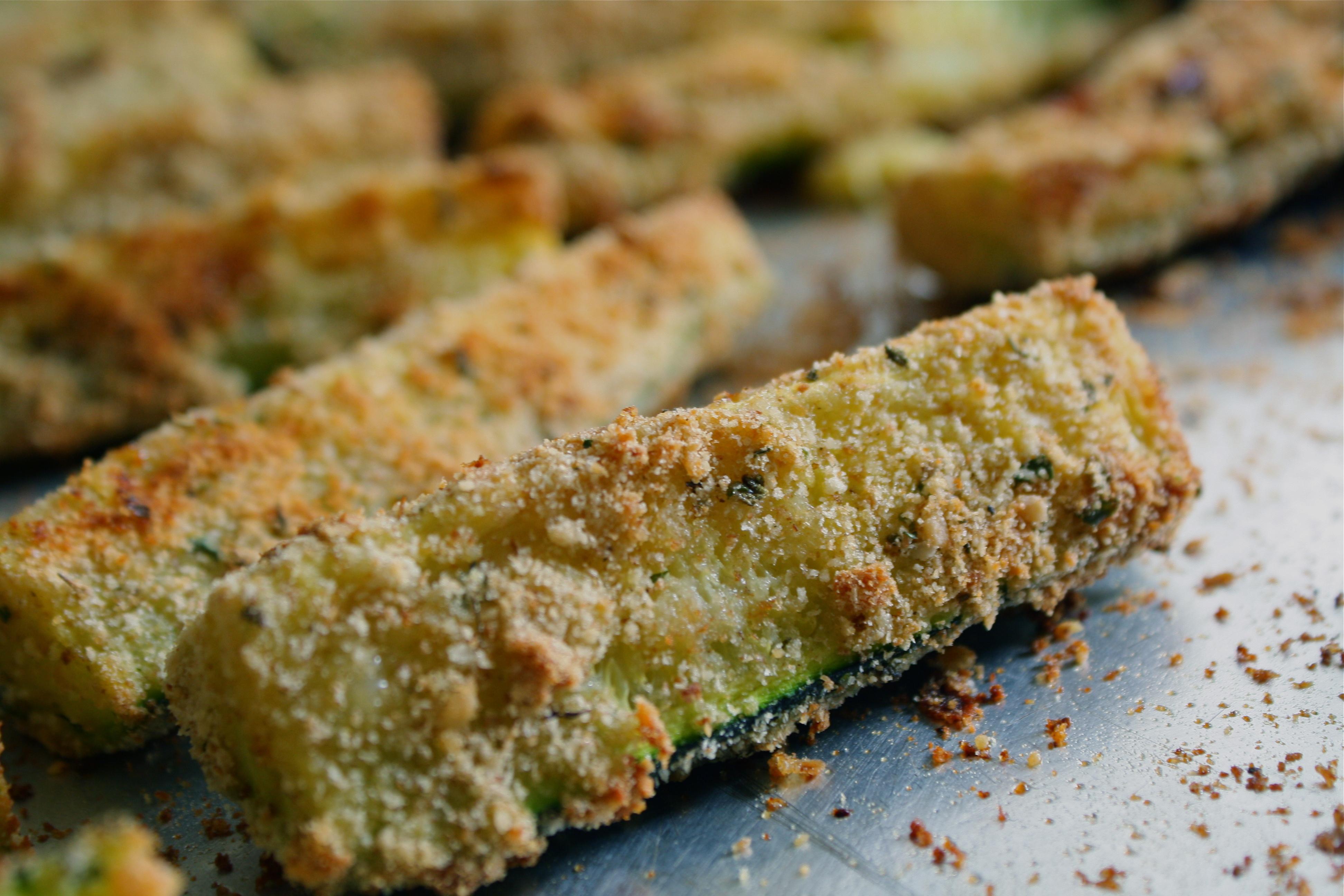 Baked Parmesan Zucchini Sticks   Miss Anthropist's Kitchen
